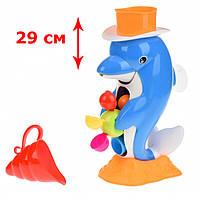 Игрушки для ванной Дельфин с лейкой и присоской, Same Toy Puzzle Dolphin 9901Ut