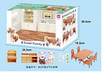 Животные флоксовые 1601F (12шт)  Столовая фигурки животных  в комплекте, в коробке