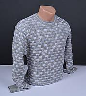 Мужской джемпер серый | Мужской свитер Турция 015