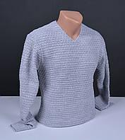 Мужской пуловер серый | Мужской свитер Турция 018