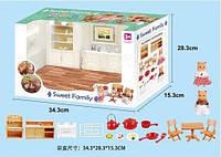 Животные флоксовые 1603F (12шт)  Кухня мебель+посуда, фигурки животных в комплекте, в коробке