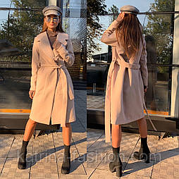 Женское кашемировые пальто с поясом (3  цвета)
