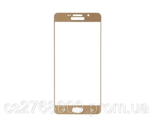 Защитное стекло / Захисне скло Samsung A710, A7 2016 золотий
