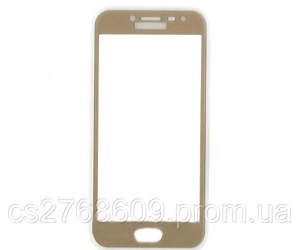 Защитное стекло / Захисне скло Samsung J250, J2 2018 золотий 5D без упаковки