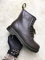 Мужские ботинки Dr Martens 1460 демисезонные (коричневый)