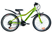 """Велосипед 24"""" Formula FOREST AM 14G Vbr рама-12,5"""" St зеленый с оранжевым (м) с крылом Pl 2019"""