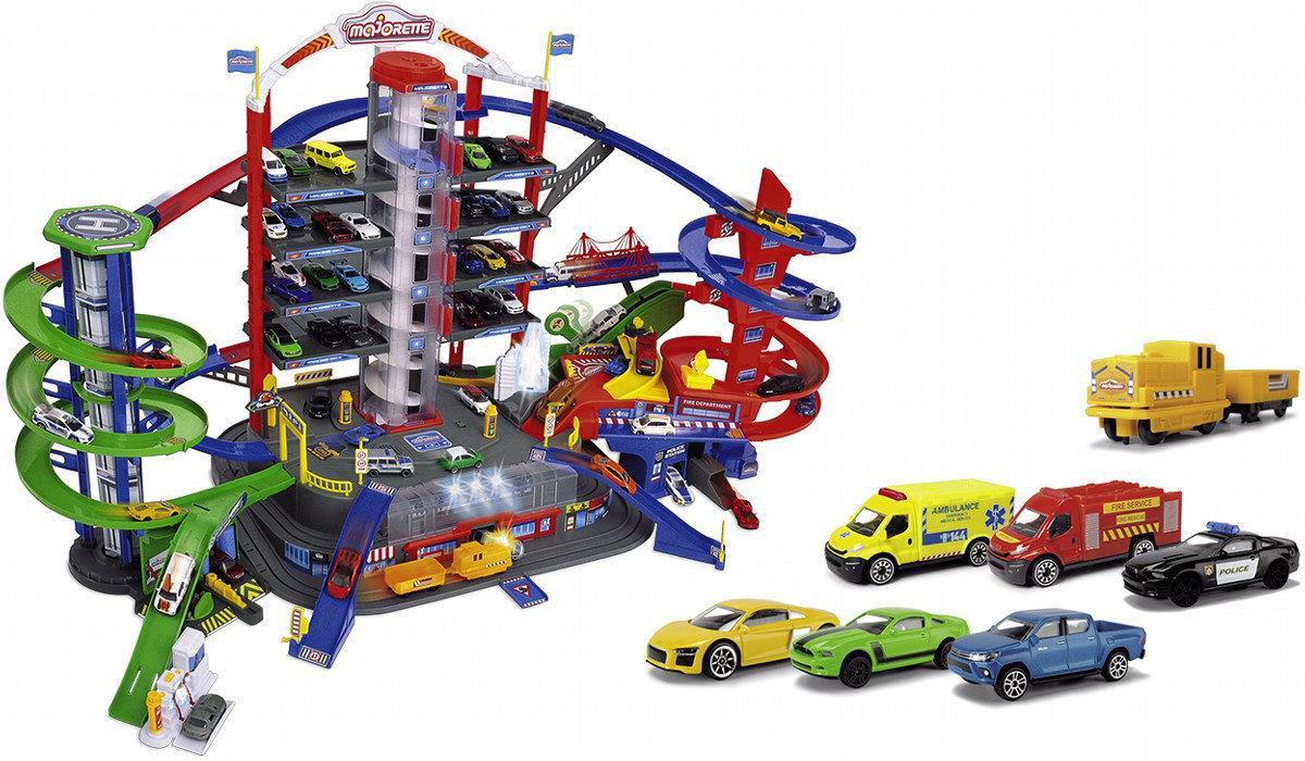 Гараж - Супер місто, на 7 рівнів з машинками (світло і звук), Majorette 5+ (2059989)