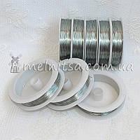 Проволока 0,3 мм, длина 50м,  серебро, фото 1
