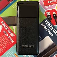 Power Bank BRUM BP008 с фонариком 10000 mAh Чёрный