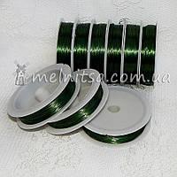 Проволока 0,3 мм, длина 50м,  зеленая, фото 1