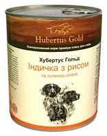 Влажный корм Hubertus Gold индейка/рис для взрослых собак всех пород 800 гр. х 24 шт