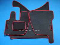 Авто коврики велюровые на резиновой основе для RENAULT PREMIUM 2005> красные