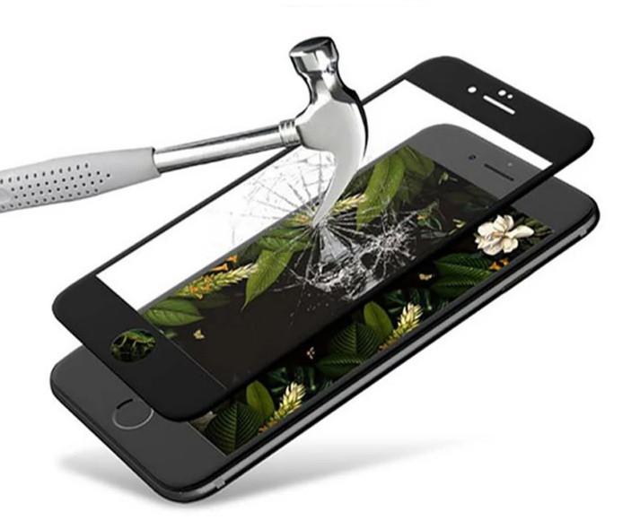 Загартоване захисне скло на Iphone 6 100% покриття Чорне, фото 1