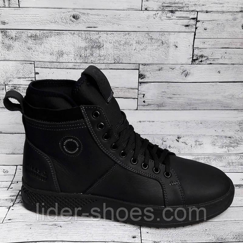 Ботинки мужские зимние черного цвета