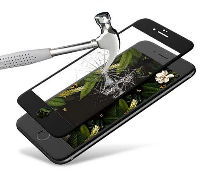 Загартоване захисне скло на Iphone 6s 100% покриття Чорне