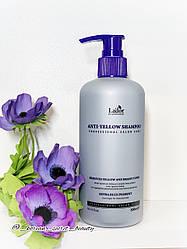 Шампунь для нейтрализации желтизны осветленных волос LA'DOR Anti-Yellow Shampoo, 300мл.