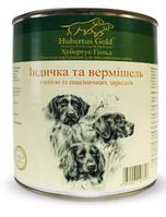 Влажный корм Hubertus Gold индейка/вермишель для взрослых собак всех пород 800 гр. х 24 шт
