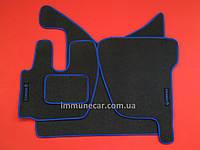 Авто коврики велюровые на резиновой основе для RENAULT PREMIUM 2005> синие