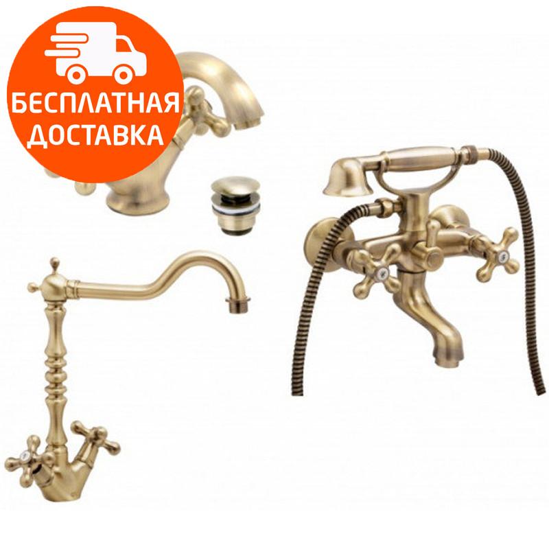 Набор смесителей для ванны и кухни 3 в 1 Genebre NRC 04NRC-BATH хром