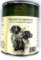 Влажный корм Hubertus Gold кролик/картофель для взрослых собак всех пород 800 гр. х 24 шт
