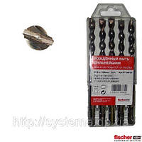 Набор буров для перфоратора SDS-Plus по бетону 10,0х100х160 мм - Fischer Pointer, упаковка 5 шт.