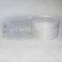 Лента из органзы, 5 см, белая