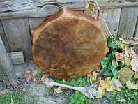 Бубен шаманский большой с рожками (9 шт.), 50+6 см. глубина 7,5 см.