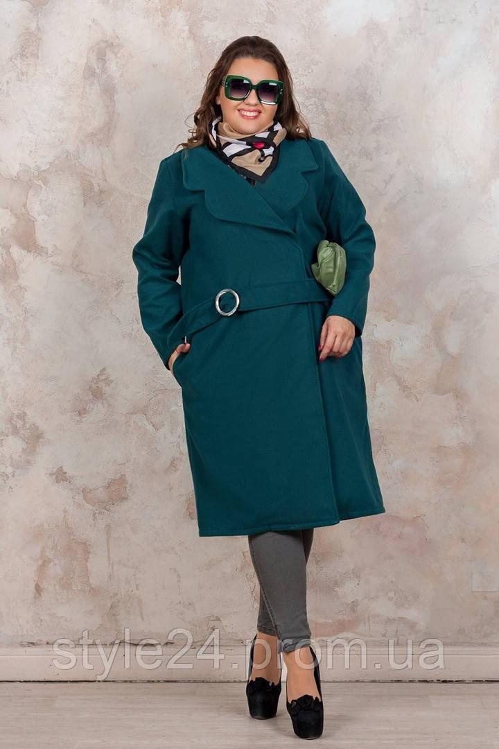 Батальне кашемірове пальто на запах .Р-ри 46-60