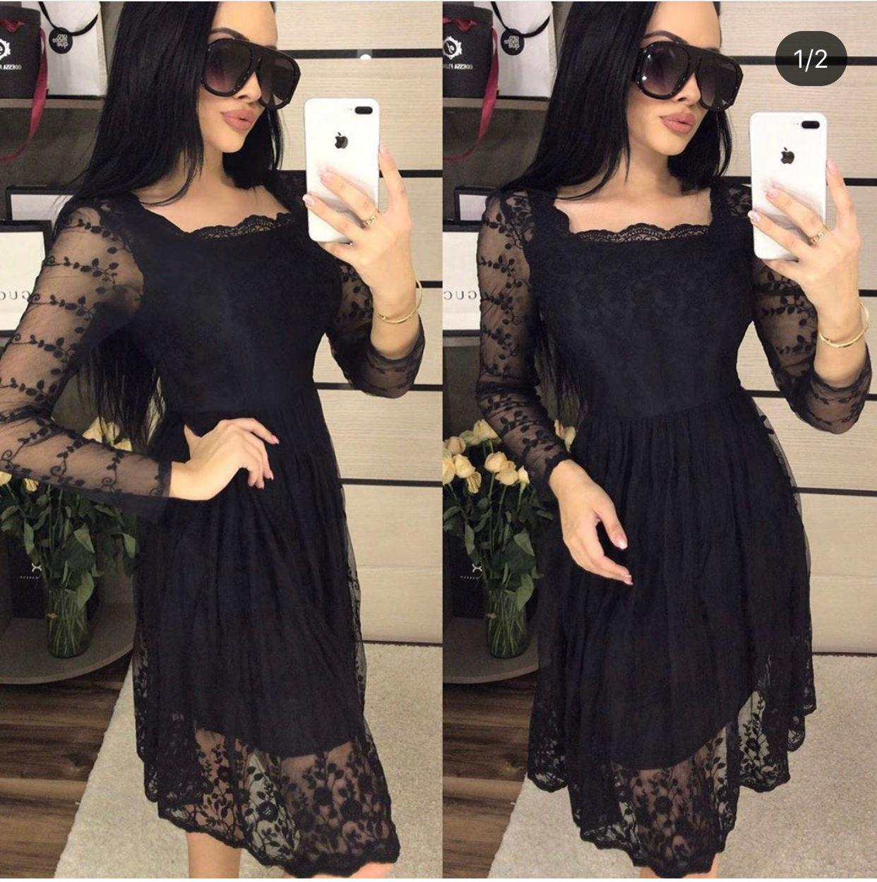 """Элегантное женское платье ткань """"Органза"""" 44 размер норма"""