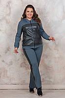 Батальний костюм зі шкіряними вствками, 2 кольори.Р-ри 46-60, фото 1