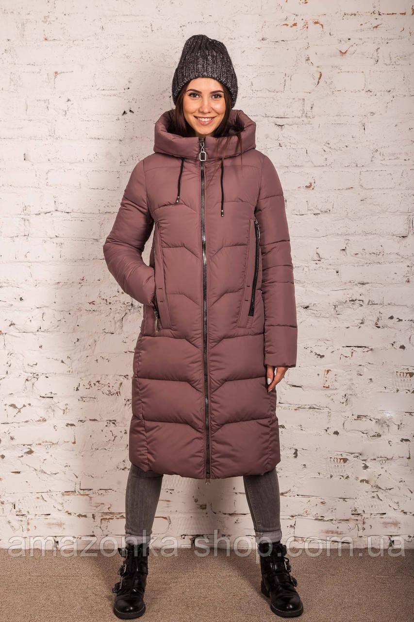 Удлиненное зимнее пальто на женщин сезон 2020 - (модель кт-701)