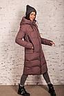 Удлиненное зимнее пальто на женщин сезон 2020 - (модель кт-701), фото 2