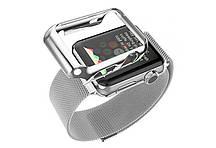 Ремешок Apple Watch 42mm with Milanese Loop magnetic + Чехол HOCO серебристый (AL889_42mm)