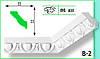 Плинтус потолочный Marbet В2 32х32мм 2м.