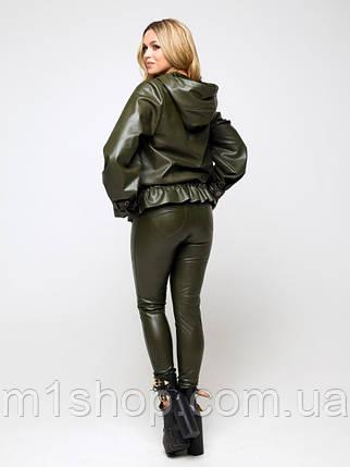 Женская утепленная короткая куртка из экокожи (Сириус lzn), фото 2