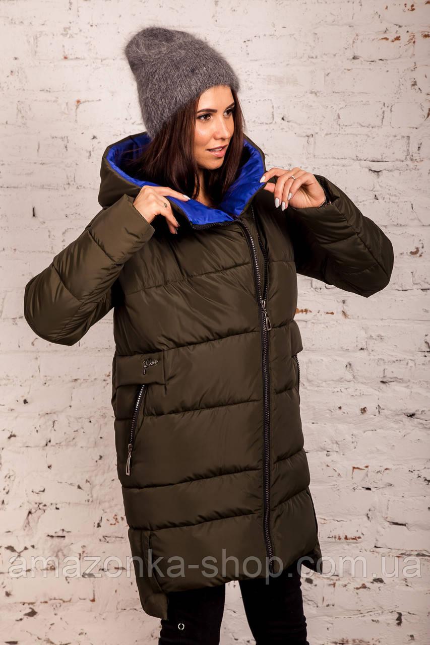 Женская полубатальная куртка на зиму сезон 2020 - (модель кт-708)