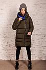 Женская полубатальная куртка на зиму сезон 2020 - (модель кт-708), фото 2