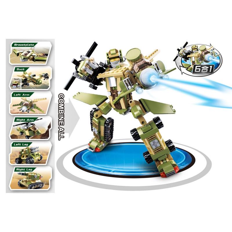 Игрушка для мальчика робот-солдат и армейская техника SLUBAN M38-B0636