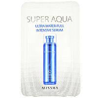 Інтенсивна сироватка для обличчя Missha Super Aqua Ultra Waterfull Intensive Serum Пробник 1 мл