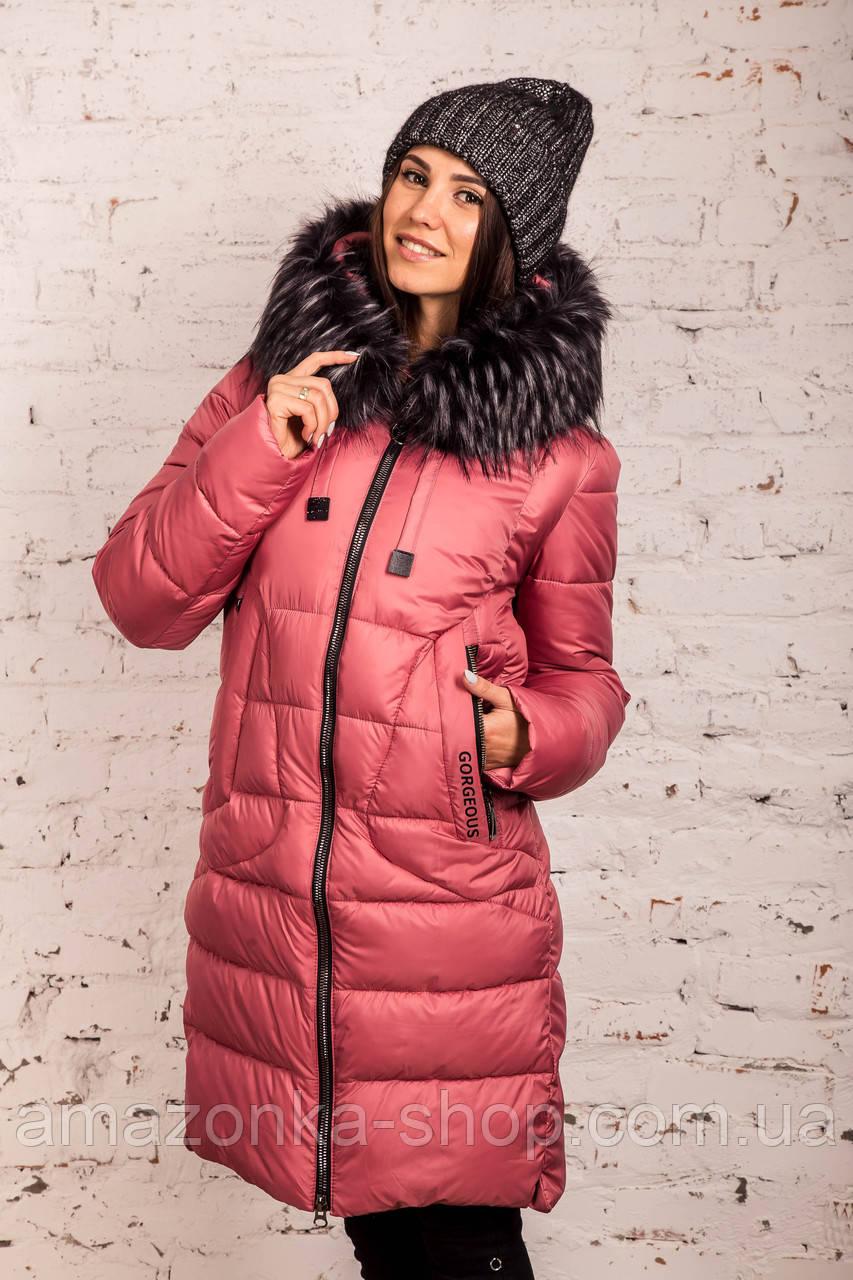 Куртка для женщин на зиму с экопухом сезон 2020 - (модель кт-697)