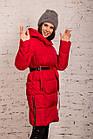 Женская зимняя куртка с пояском сезона 2019-20 - (модель кт-4), фото 2