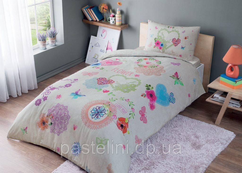 Тас Dottie pembe подростковое постельное бельё на резинке