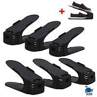 Двойная подставка для обуви shoe slotz набор 6 +1