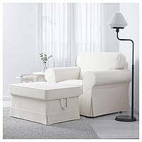 IKEA EKTORP Кресло, Vittaryd белый (491.290.92)