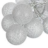 "Гирлянда ""Серебряные шарики-фонарики"" 20шт. (001NL-20S), фото 5"