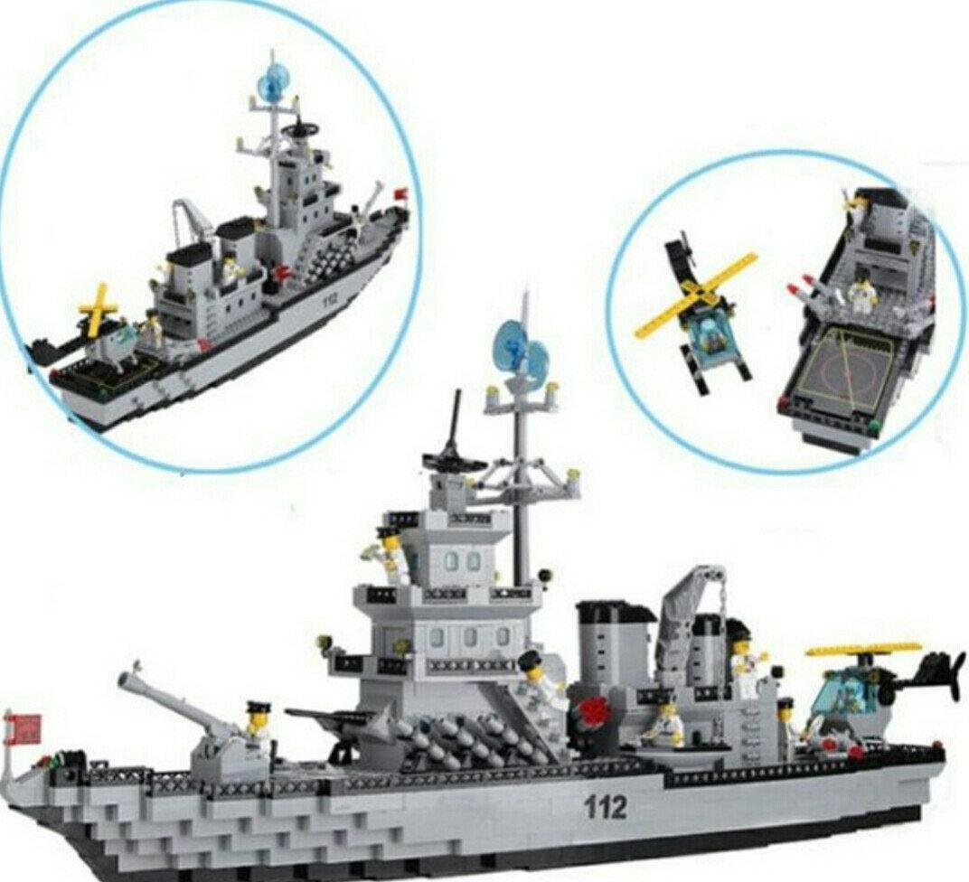 Конструктор Brick 112/208885 Военный корабль Эсминец 970 деталей