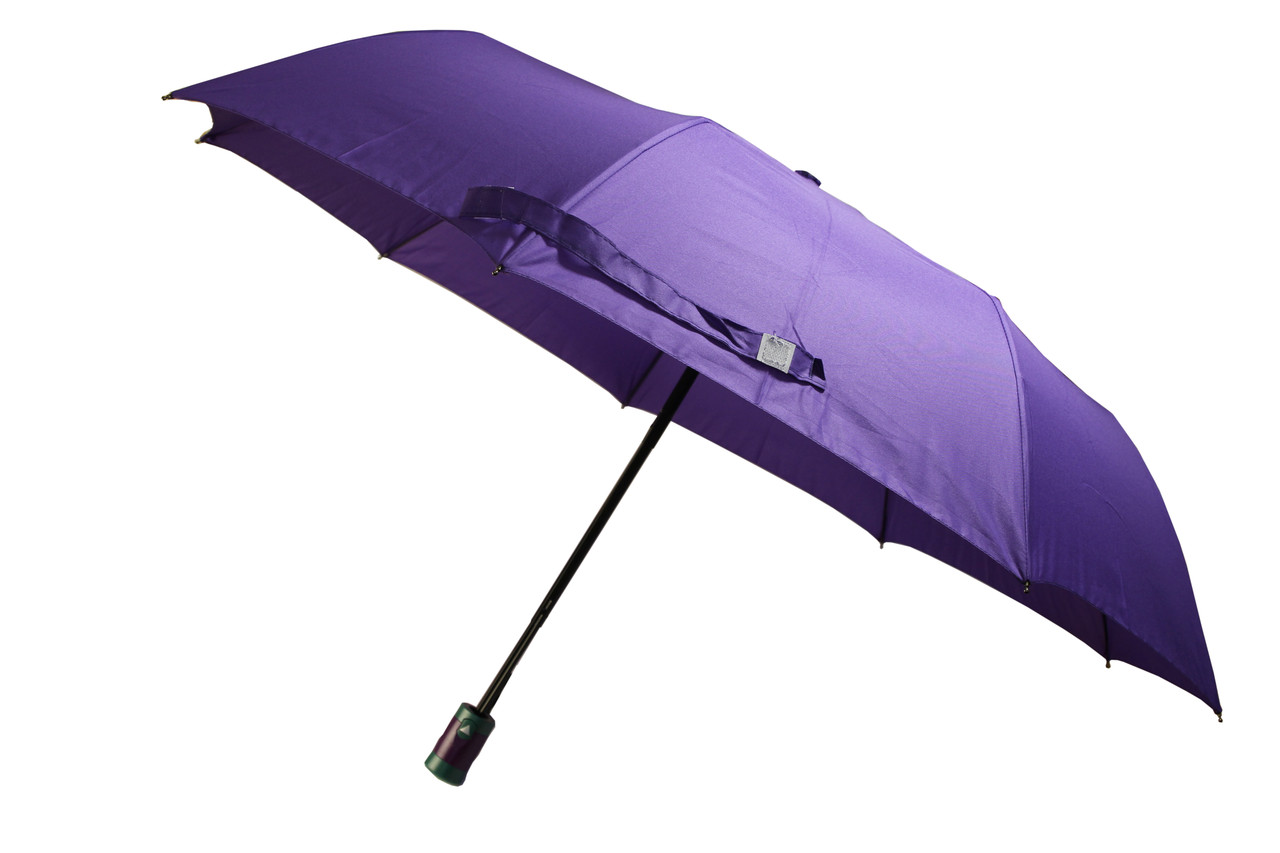 Зонт женский фиолетовый полуавтомат - 9 карбоновых спиц, (12135 purpur)