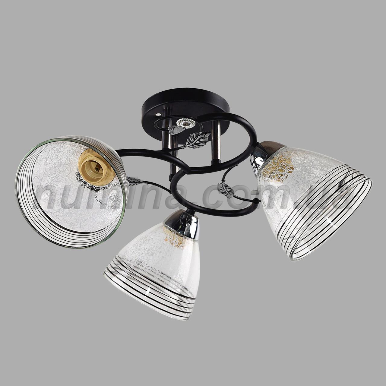 Люстра потолочная на 3 лампы SS-1004/3 BK+CR