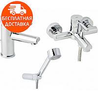Набор смесителей для ванны без штанги 3 в 1 Genebre Tau 03TA1-bath хром