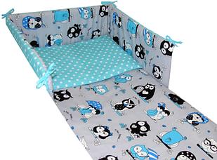 Постельное белье для кроватки с протектором